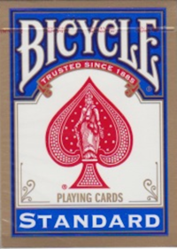 Bicycle Poker Rider Back Standard - Blue