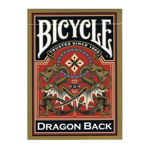 Bicycle Poker Dragon Back Gold
