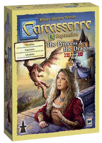 Carcassonne svenskt: 3 Princess & the Dragon