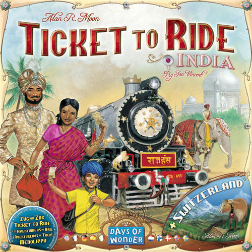Ticket to Ride Map Collection: 2 India/Switzerland