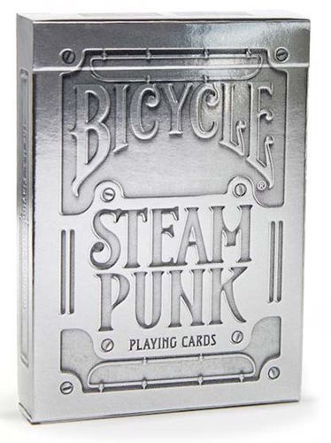 Bicycle Poker Steampunk Silver