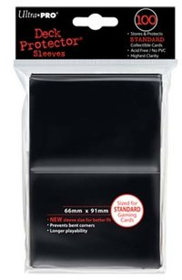 Deck Protector 100 st 66 x 91 mm - black