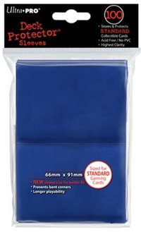 Deck Protector 100 st 66 x 91 mm - blue