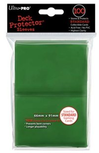 Deck Protector 100 st 66 x 91 mm - green