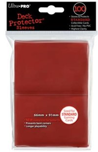 Deck Protector 100 st 66 x 91 mm - red