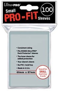 Small Pro-Fit Sleeves 100 st 60 x 87 mm