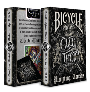 Bicycle poker club tattoo spelkort for Bicycle club tattoo deck