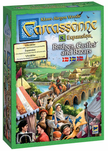 Carcassonne svenskt: 8 Bridges, Castles and Bazars