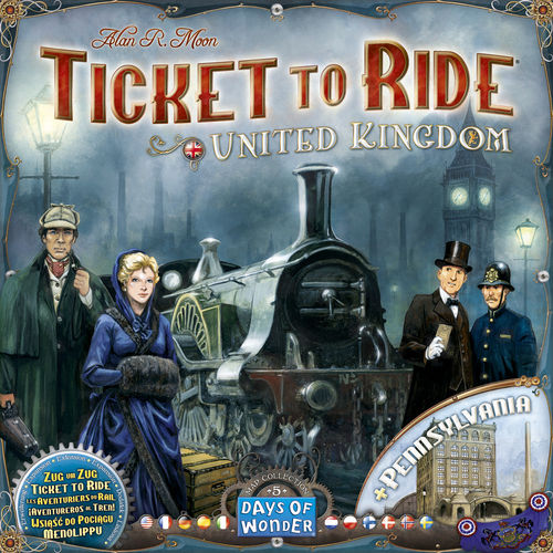 Ticket to Ride Map Collection: 5 United Kingdom/Pennsylvania