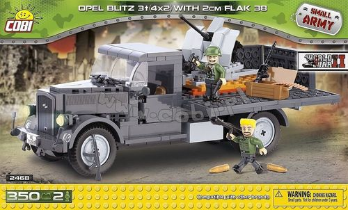 Opel Blitz 3t (4x2) with Flak 38/2 cm -  350 pcs - 2 figurer