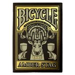 Bicycle Poker Amber Stag