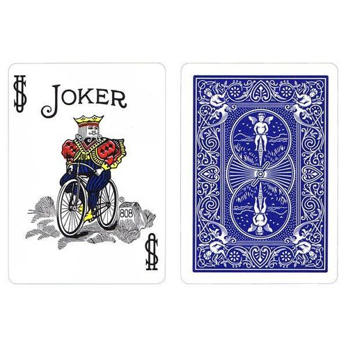 Bicycle Poker Rider Back Seconds Standard - Blue
