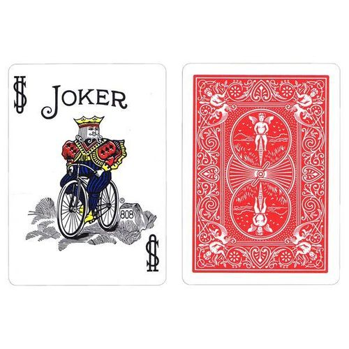Bicycle Poker Rider Back Seconds Standard - Red