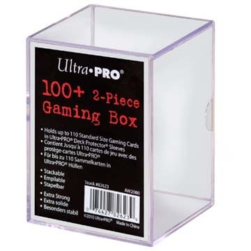 100 Count Clear Card Gaming Box
