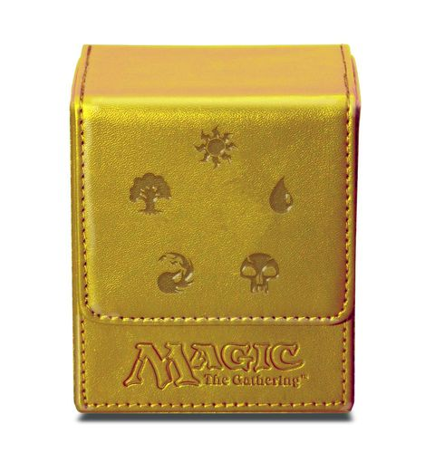 Deck Box Flip Magic the Gathering - Gold Mana symbols