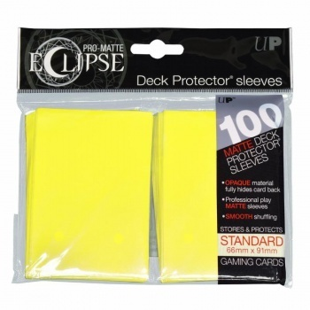 Deck Protector Eclipse Pro-Matte Standard 100 st Lemon Yellow