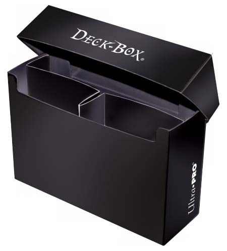 Deck Box Solid Black Oversized