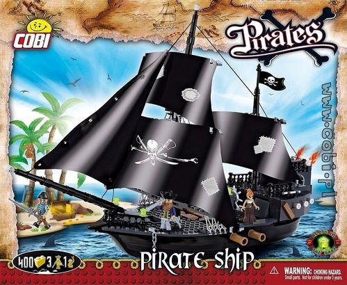 Pirate Ship med 400 byggbitar, 4 figurer