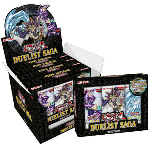 Duelist Saga Display med 5 x 3 mini-packs (15 cards)