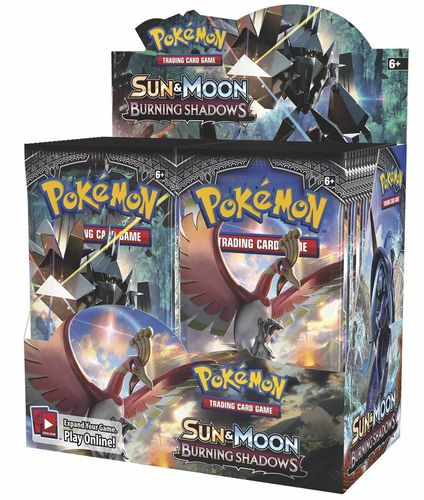 Sun & Moon 3 - Burning Shadows Booster Display