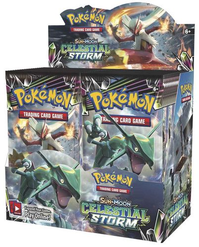 Sun & Moon 7 - Celestial Storm Booster Display
