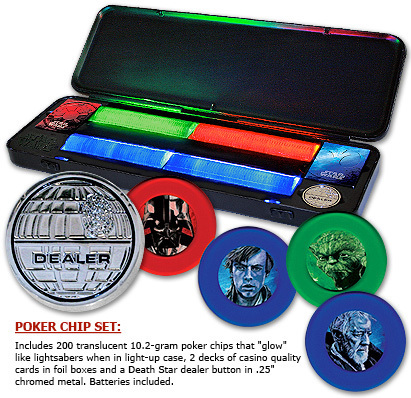 Pokerset med 200 spelmarker - Star Wars