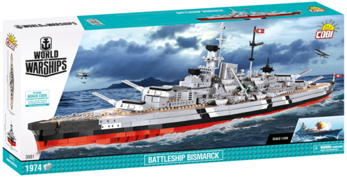 Battleship Bismarck 1974 pcs Limited Edition