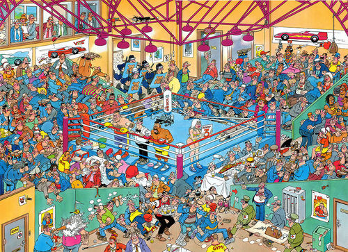 Jan van Haasteren - Boxing Party - 1000 bitar