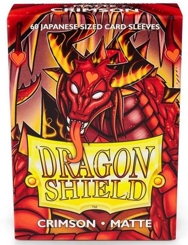 Dragon Shield 60 st Japanese Matte - Crimson