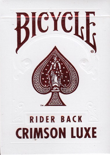 Bicycle Poker Rider Back - Crimson Luxe