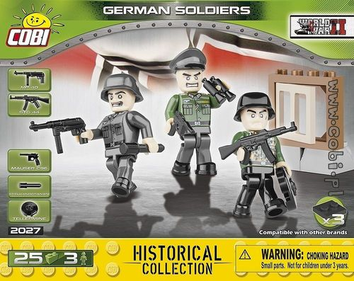 3 olika figurer German Soldiers