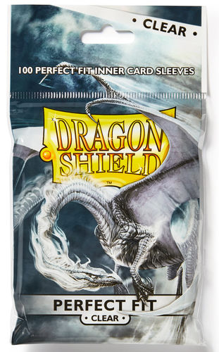 Dragon Shield Perfect Fit 100 st - Clear - Inner sleeves