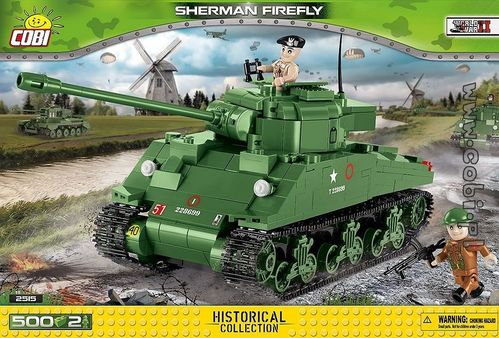 Sherman Firefly 500 pcs, 2 figurer