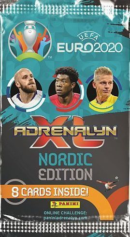 UEFA EURO 2020 Adrenalin XL Nordic Edition Pack med 8 kort