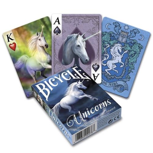 Bicycle Poker Anne Stokes: Unicorns