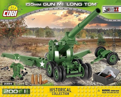 155 mm Gun M1 Long Tom 200 pcs - 1 figur