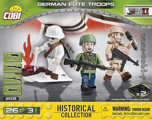 3 olika figurer German Elite Troops