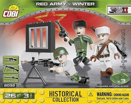 3 olika figurer Red Army - Winter