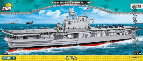 USS Enterprise CV-6 - 2510 pcs