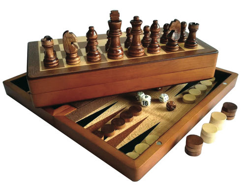 Backgammon, Chess and Checkers Resespel